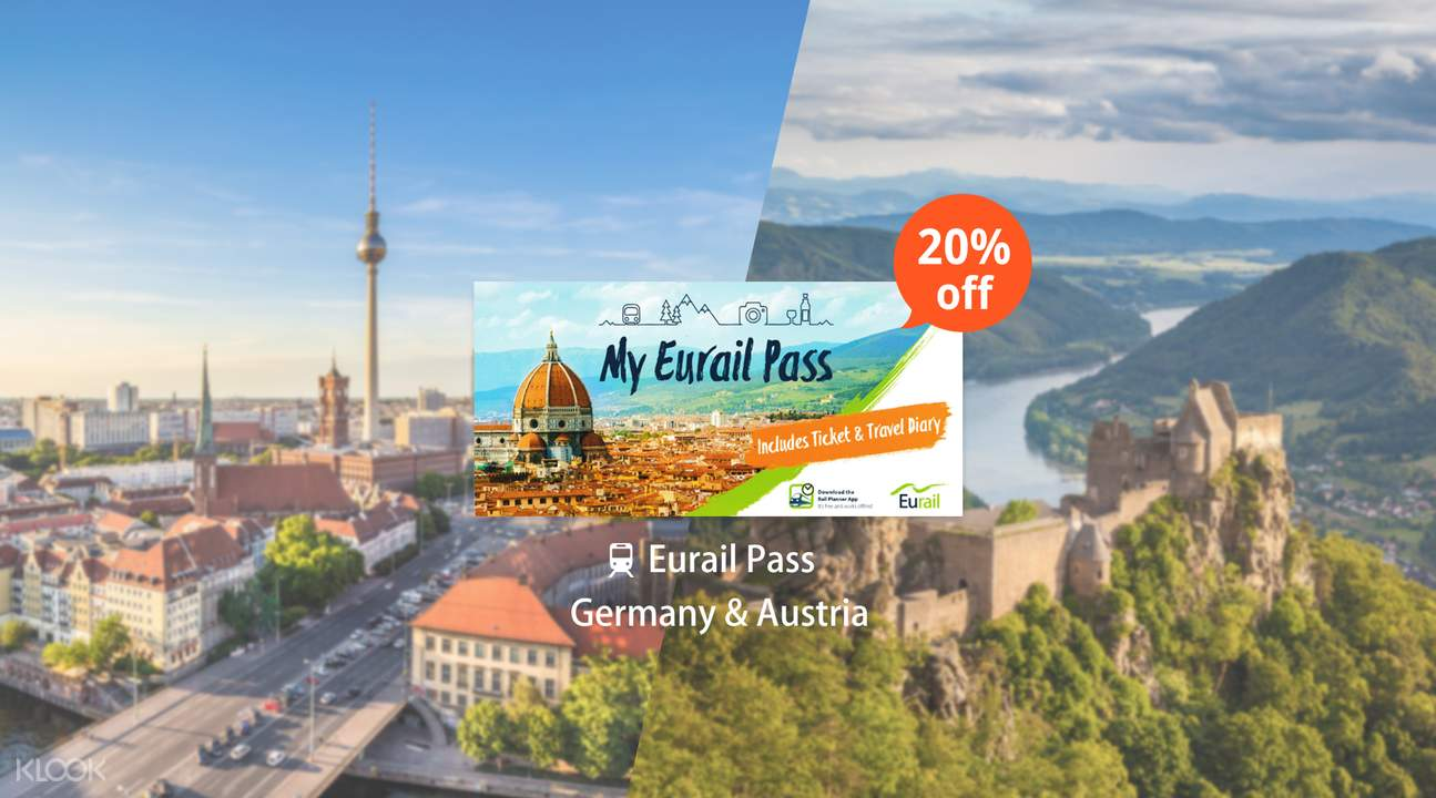 Eurail Pass for Germany & Austria (4, 5, 6, 8 or 10 Days)